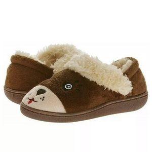 Fuzzy Bear Slippers Nonslip Soles Indoor/Outdoor